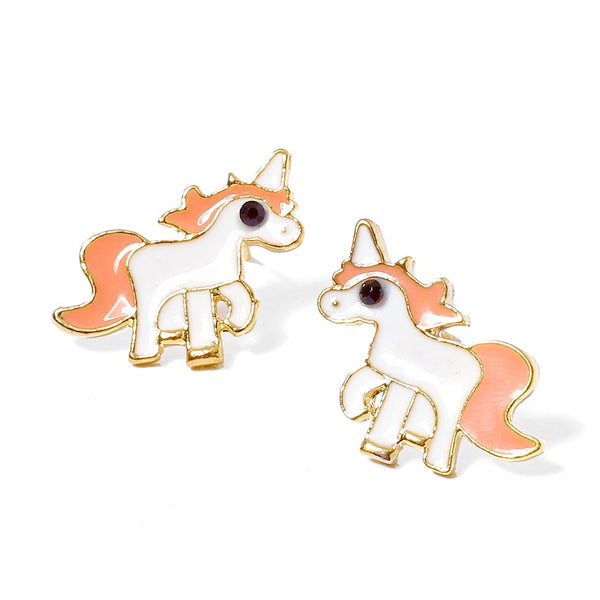 Enamel Unicorn Stud Earrings!
