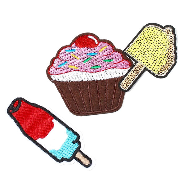Sweet Treats Iron-On Patch Set!