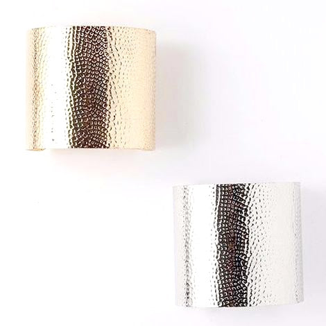Stylish Hammered Metal Cuff Bracelet
