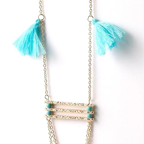 Bar & Tassel Necklace