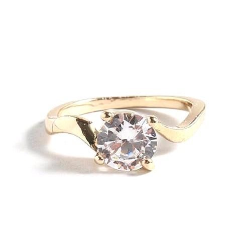 Faux Solitaire Engagement Ring