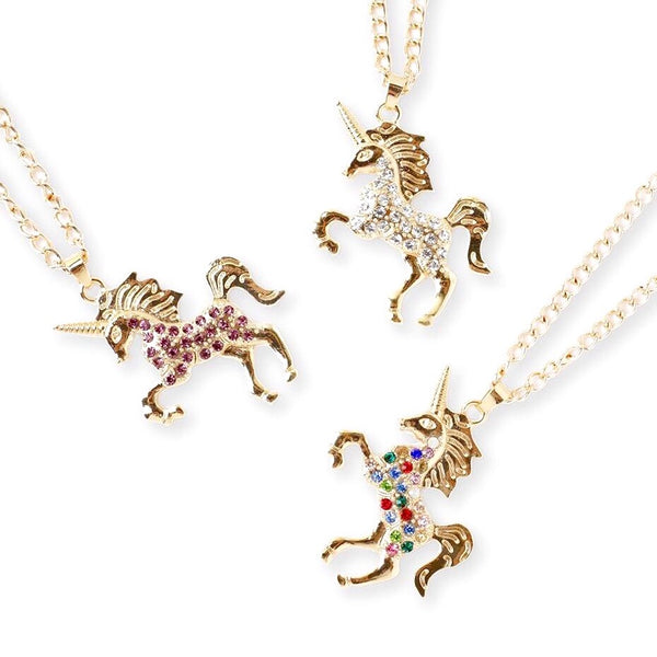 Rhinestone Unicorn Necklaces
