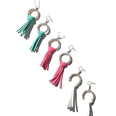 Rhinestone & Tassel Earrings!