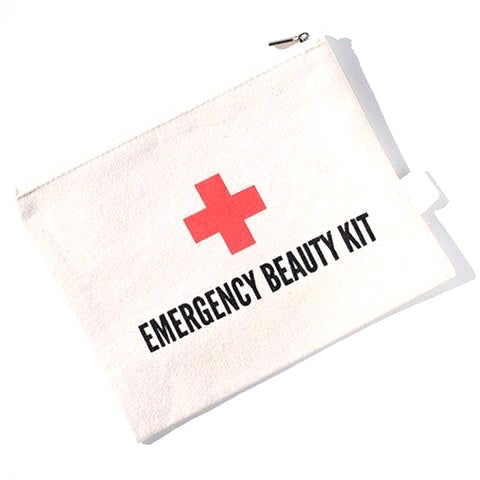 Emergency Beauty Kit Canvas Pouch!