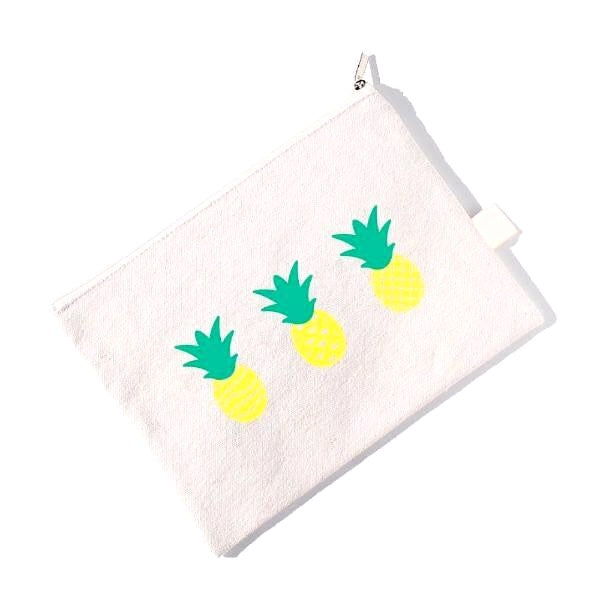 Pineapple Print Canvas Pouch!