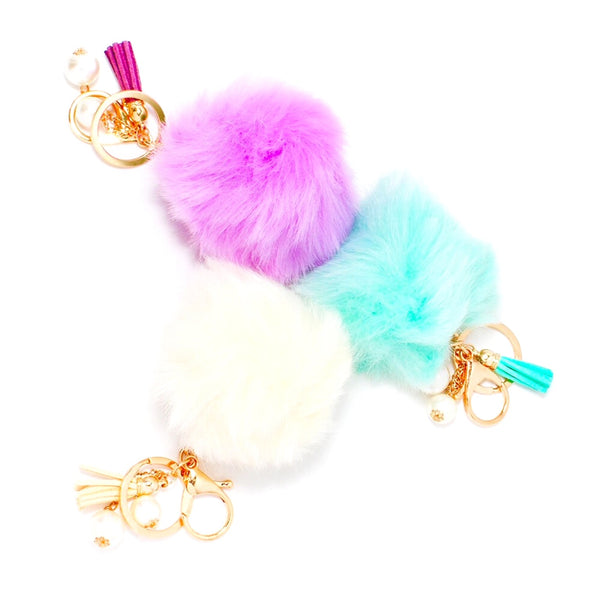 Pom Pom & Tassel Purse Charms