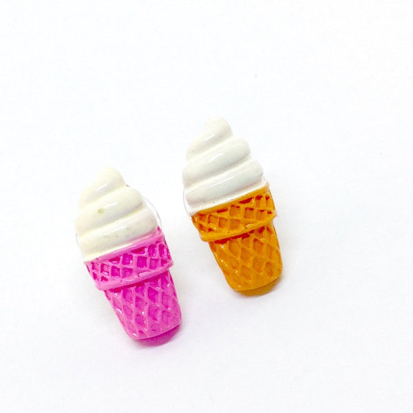 Kawaii Ice Cream Cone Earrings!