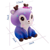 Jumbo Galaxy Deer Ombré Squishy