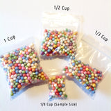 Large Rainbow Foam Beads for Slime