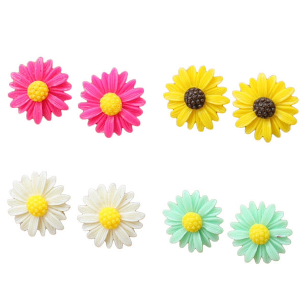 Colourful Flower Earrings!