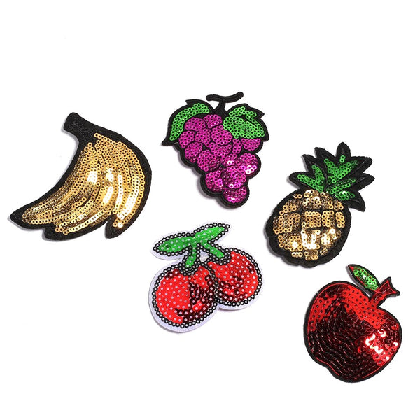 Sparkly Sequin Fruit Pins!