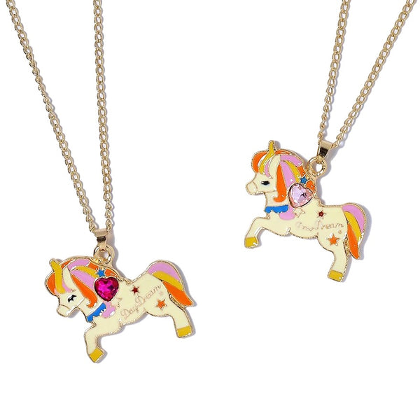 Unicorn Gemstone Pendant Necklaces
