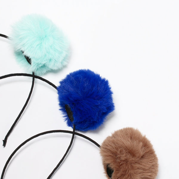Fluffy Pom Pom Headbands!