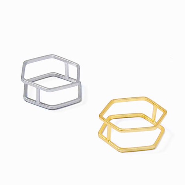 Geometric Cut-Out Ring