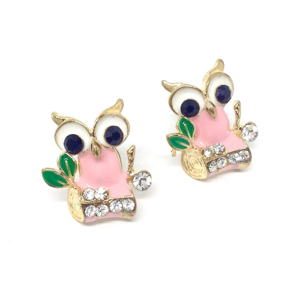 Sparkly Owl Stud Earrings