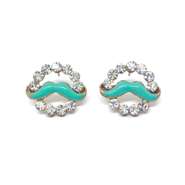 Circle Mustache Earrings!