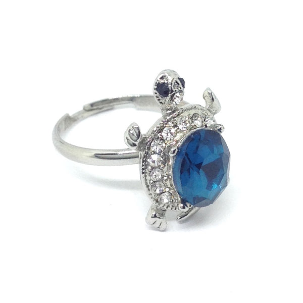 Gemstone Turtle Ring