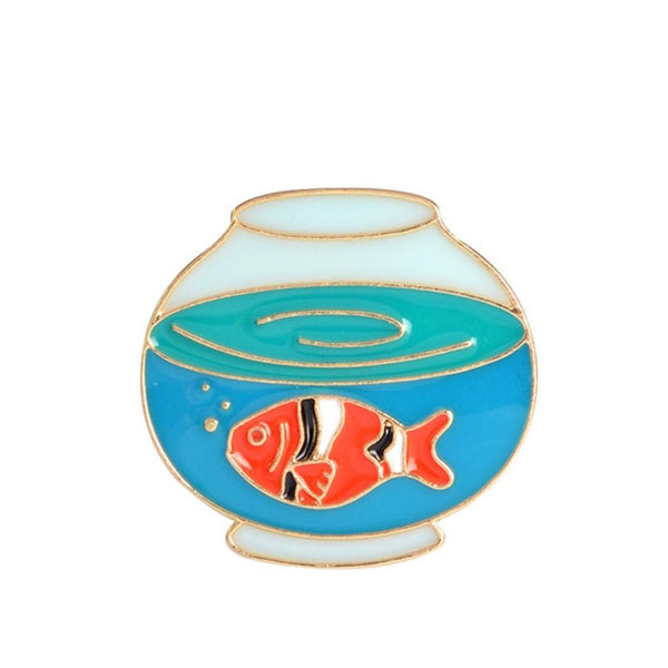 Enamel Fishbowl Pin