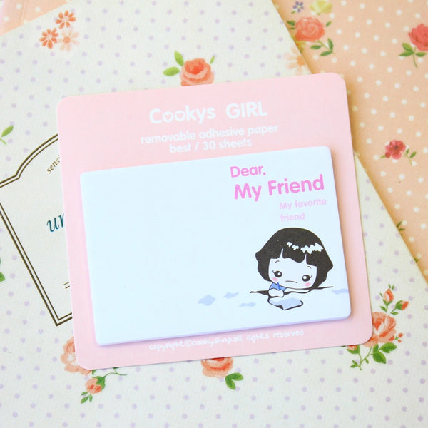 Cooky's Girl Kawaii Memo Pads
