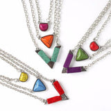 Coloured Stone Layer Necklace