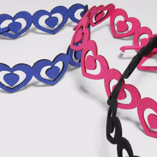Suede Heart Cut-Out Choker
