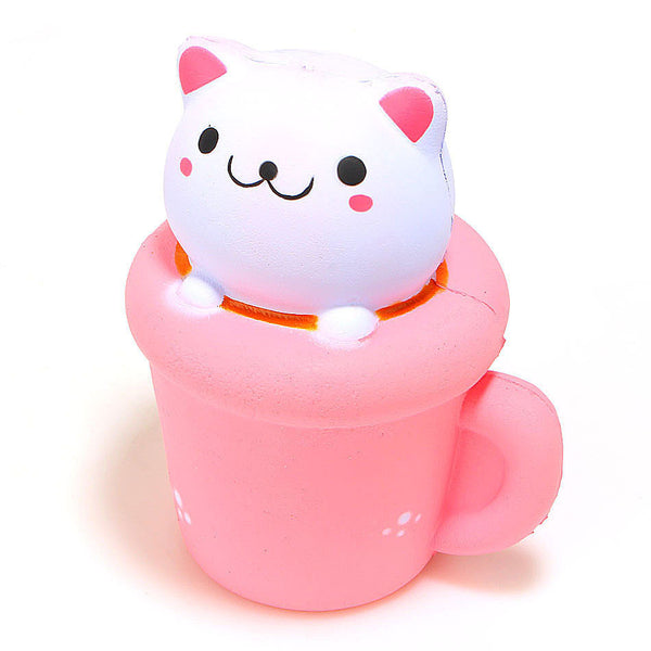 Jumbo Slow Rise Kitty Mug Squishy