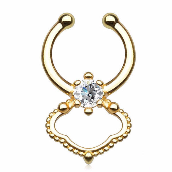 Gold Ion Plated Septum Ring