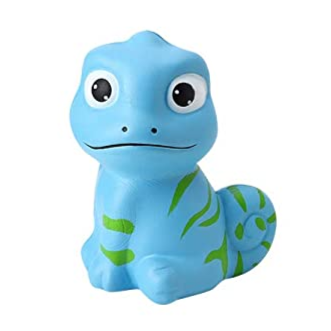 Slow Rise Blue Chameleon Squishy