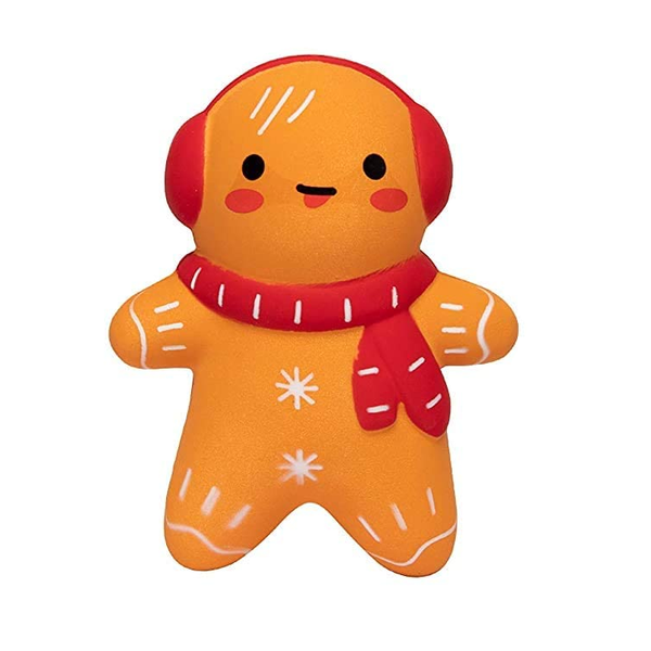 Slow Rise Gingerbread Cookie Christmas Squishy
