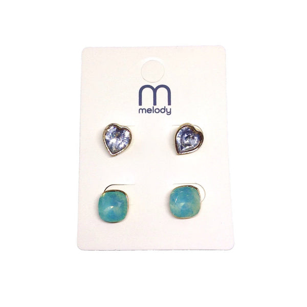 Gem & Rhinestone Earring Set