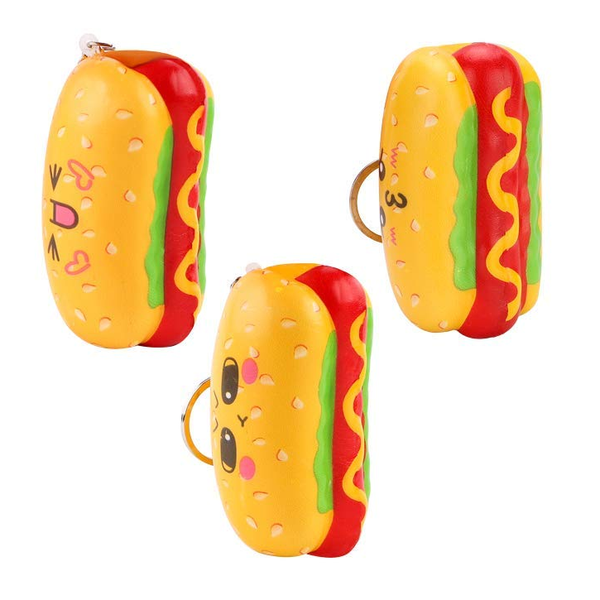 Super Slow Rise Hot Dog Squishies