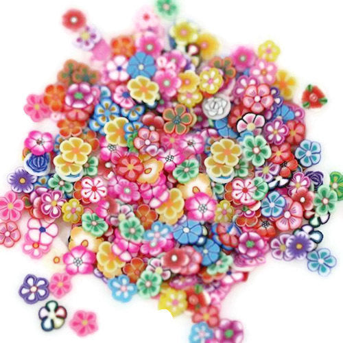 Cute Flowers Fimo Cane Slices!