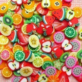 Fruit Themed Fimo Cane Slices!