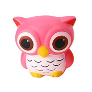 Slow Rise Pink Owl Squishy