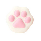 Slow Rise White & Pink Cat Paw Squishy