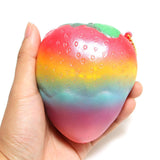 Jumbo Slow Rise Rainbow Strawberry Squishy