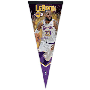 Lebron James Los Angeles Lakers NBA Premium Pennant