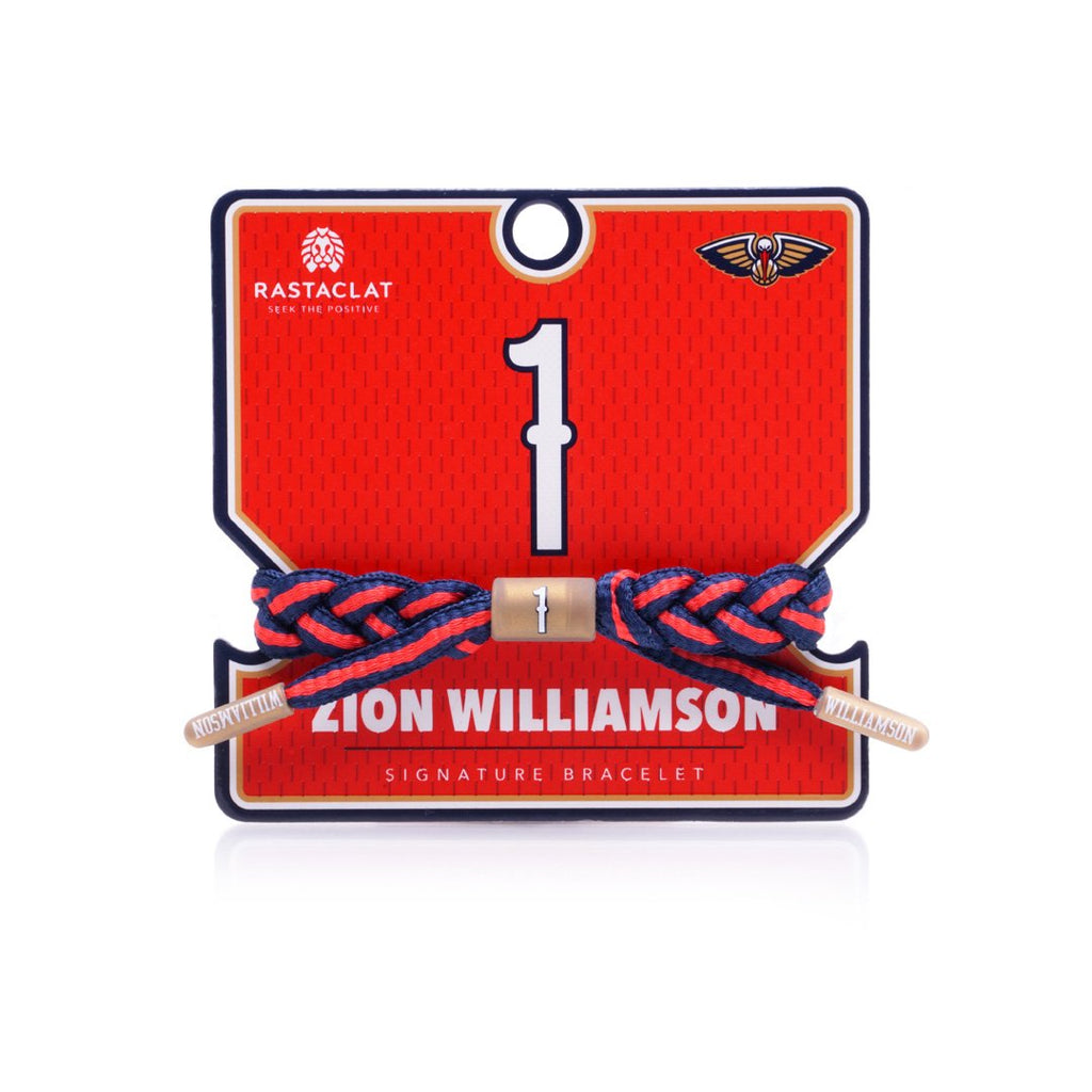 Zion Williamson New Orleans Pelicans Rastaclat NBA Bracelet