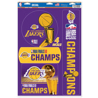 "Los Angeles Lakers 2020 NBA Champions Decal 11"" x 17"" Stickers"