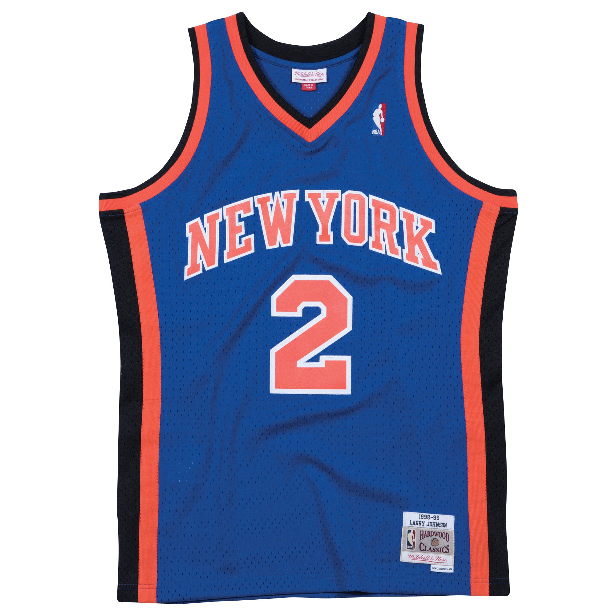 best cheap 0b770 2e2c9 Larry Johnson New York Knicks Hardwood Classic Throwback NBA Swingman Jersey