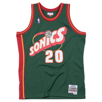 GARY PAYTON SEATTLE SUPERSONICS NBA HARDWOOD CLASSICS THROWBACK SWINGMAN JERSEY - Basketball Jersey World