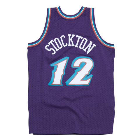 JOHN STOCKTON UTAH JAZZ NBA HARDWOOD CLASSICS THROWBACK SWINGMAN JERSEY
