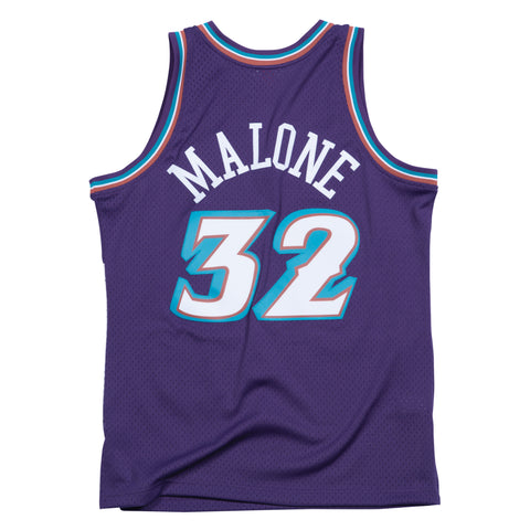 KARL MALONE UTAH JAZZ NBA HARDWOOD CLASSICS THROWBACK SWINGMAN JERSEY