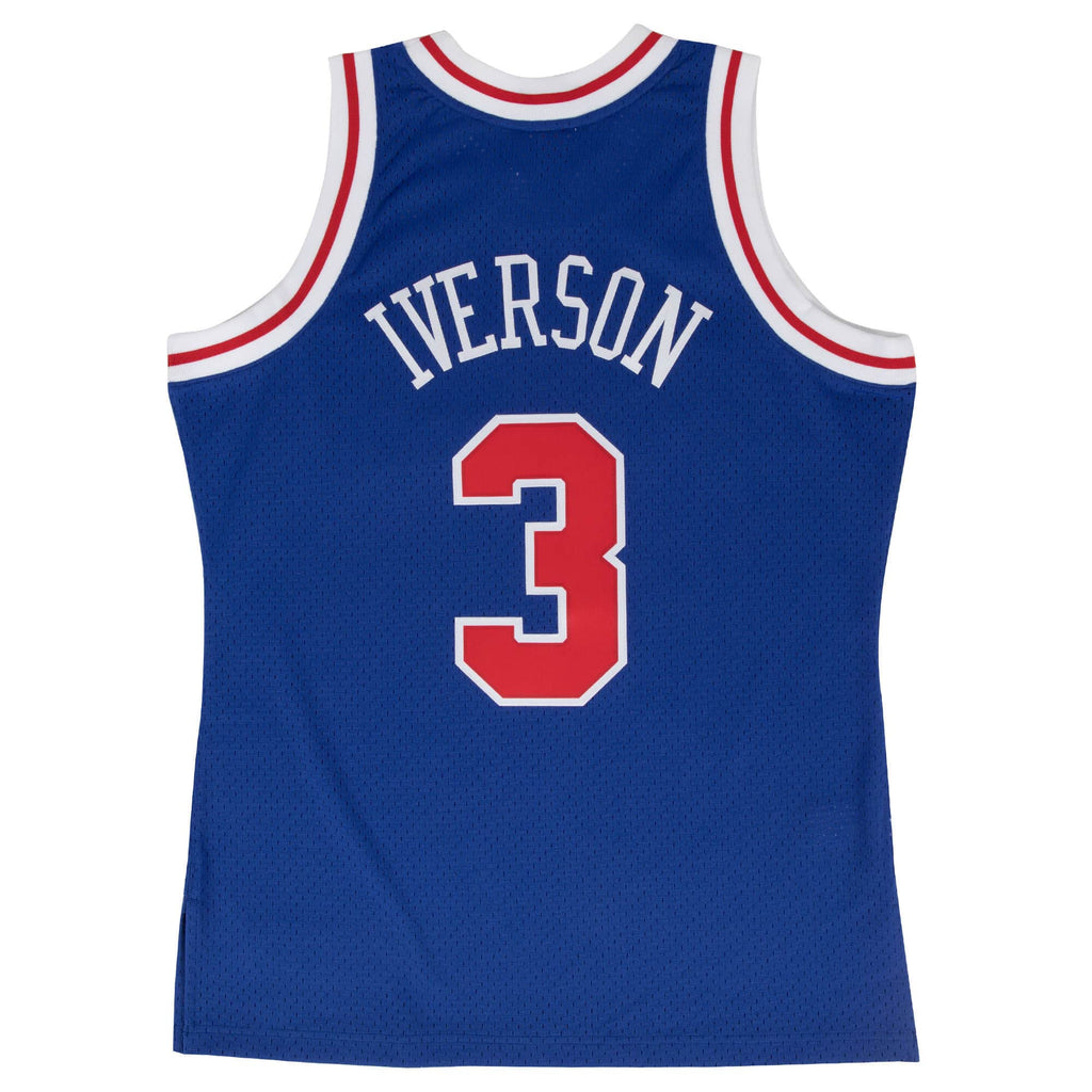 Allen Iverson Philadelphia 76ers Hardwood Classics Throwback Rookie NBA Swingman Jersey