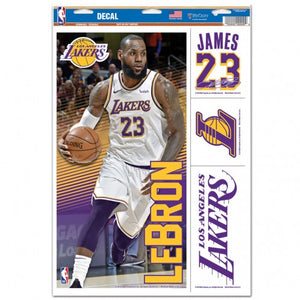 "LeBron James Los Angeles Lakers Decal 11"" x 17"" Stickers"