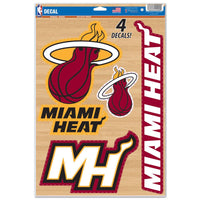"Miami Heat Decal 11"" x 17"" Stickers"