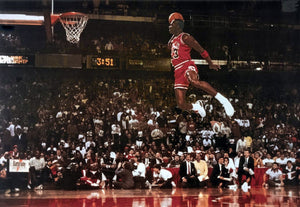 Michael Jordan Slam Dunk Contest NBA Wall Poster