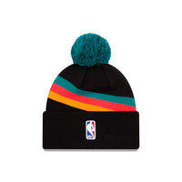 San Antonio Spurs City Edition Wordmark Pom Knit NBA Beanie