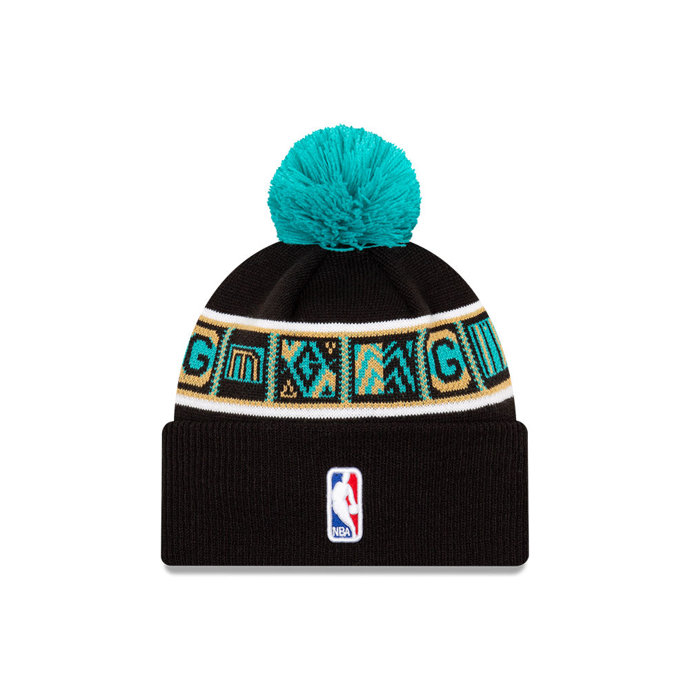 Memphis Grizzlies City Edition Wordmark Pom Knit NBA Beanie