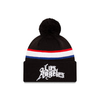 Los Angeles Clippers City Edition Wordmark Pom Knit NBA Beanie